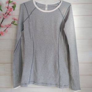 Lululemon reversible Striped long sleeve shirt